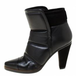 Chloe Black Soft Leather Ankle Boots Size 37.5 220817