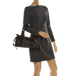 Givenchy Black Monogram Canvas and Leather Buckle Shoulder Bag 221272