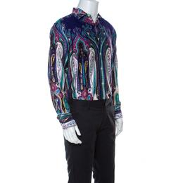 Etro Multicolor Paistley Print Cotton Shirt L 221644