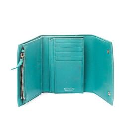Tiffany & Co. Blue Leather Tri- Fold French Wallet 221216