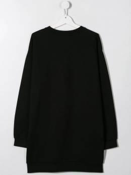 Young Versace - платье-толстовка с кристаллами 66909YA6663895593696