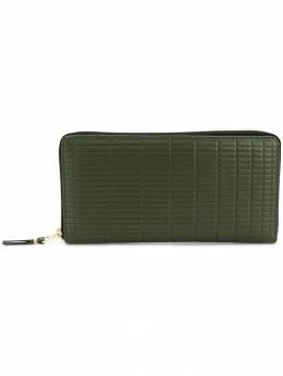 Comme Des Garcons Wallet embossed zip around wallet SA0110BK