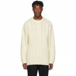 Juun.J Off-White Cable Knit Sweater JC9Y51P020