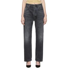 Unravel Black Baggy Boy Jeans UWYA005F19DEN0021100