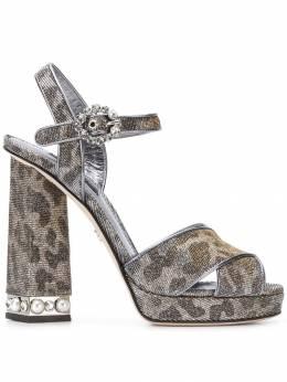 Dolce&Gabbana bejeweled heel platform sandals CR0644AU647