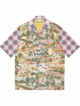 Gucci рубашка с короткими рукавами и принтом 574559ZACPC