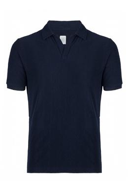 Синяя рубашка-поло Eleventy 2014149795