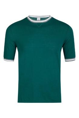 Зеленая трикотажная футболка Eleventy 2014149801