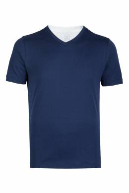 Приталенная синяя футболка Eleventy 2014149793