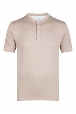 Светло-коричневая рубашка-поло Eleventy 2014149763