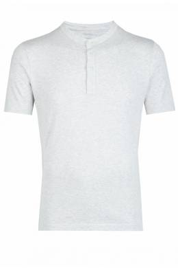 Серая рубашка-поло на пуговицах Eleventy 2014149760