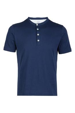 Синяя рубашка-поло Eleventy 2014149765