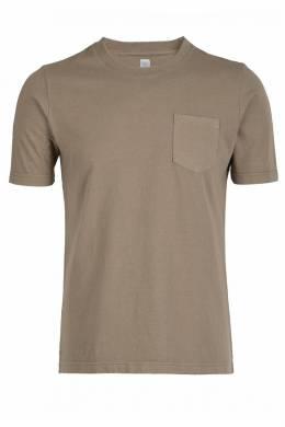 Коричневая футболка с нагрудным карманом Eleventy 2014149783