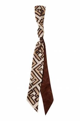 Бежевый шарф с монограммами Fendi 1632150455