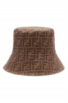Коричневая шляпа с монограммами Fendi 1632150517