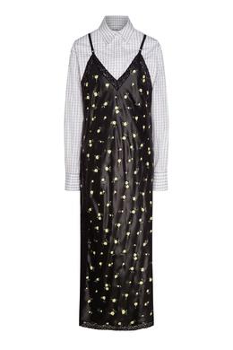 Двухслойное платье черного цвета Alexander Wang 367150565