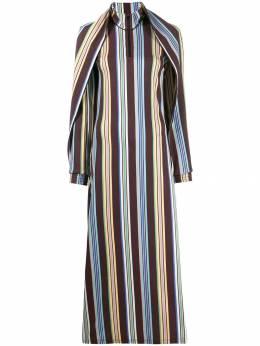 Y / Project платье с кейпом в полоску WTSDRESS24S17F42