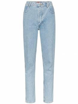 Eckhaus Latta джинсы прямого кроя с завышенной талией 332ELAW19TBTRUEBLUE