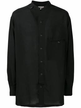 Yohji Yamamoto рубашка с воротником-стойкой HVB18217