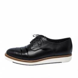 Salvatore Ferragamo Black Cut Out Leather Famoso Lace Up Oxfords Size 41 223498