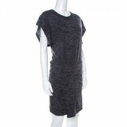 Isabel Marant Etoile Dark Grey Jersey Waist Tie Wrap Dress M 221871
