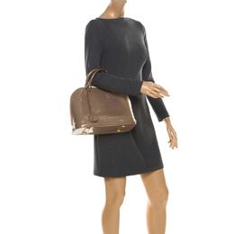 Louis Vuitton Beige Poudre Monogram Vernis Alma PM Bag 222463