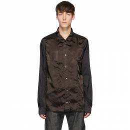 Rick Owens Black and Brown Faun Shirt RR19F4208 ONZ