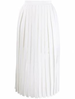 Balmain юбка миди со складками SF04872K556