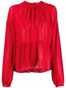 No. 21 блузка с длинными рукавами и фестонами N2SG0725058
