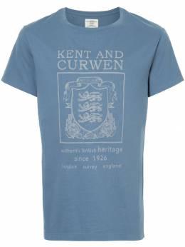 Kent & Curwen футболка с принтом герба со львами K3770TM10038