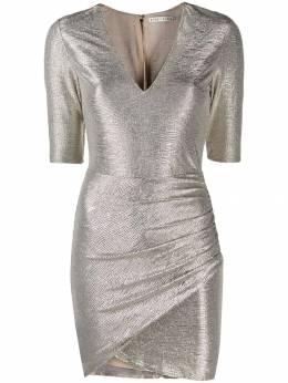 Alice + Olivia фактурное платье с эффектом металлик CC907V31537