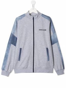 Roberto Cavalli Junior куртка с контрастным логотипом IJT953CF042