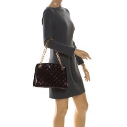 Louis Vuitton Amarante Monogram Vernis Virginia MM Bag 222606