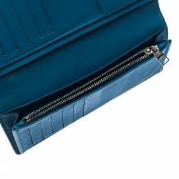 Louis Vuitton Blue Leather Long Wallet 222840