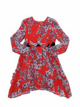 Платье Из Вискозы Жоржет С Принтом Philosophy Di Lorenzo Serafini 70I1VN115-MDE0NQ2