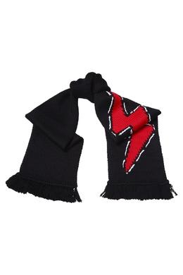 Черный шарф с молнией Prada 40150719