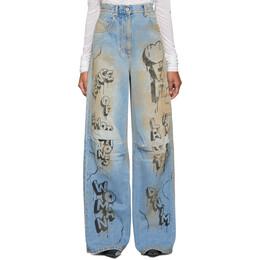 Off-White Blue Graffiti Tomboy Jeans OWYA011F197730627110