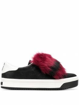 Marc Jacobs кроссовки с отделкой из меха M9002170