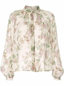 Giambattista Valli блузка с цветочной вышивкой 19FWPVCI167642PRA