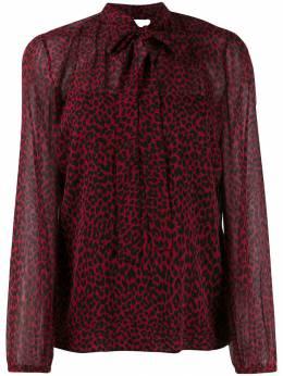 Red Valentino блузка с леопардовым принтом SR0ABB054HR
