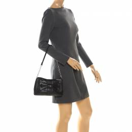 Aigner Black Leather Shoulder Bag 222435