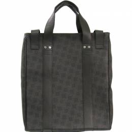 Alfred Dunhill Black/Brown PVC Leather Tote Bag