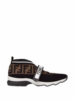 Fendi слипоны Rockoko с логотипом FF 8E6701A5JF