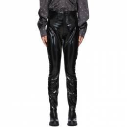 Rag&Bone Black High-Rise Vinyl Skinny Trousers WAW19F7042MI42