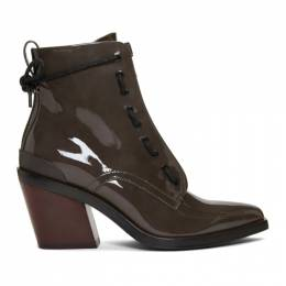 Rag&Bone Grey Patent Ryder Boots WFF19FF0084K08