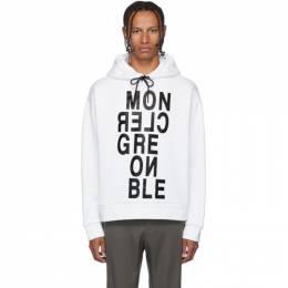 Moncler Grenoble White Maglia Logotype Hoodie 80016 - 50 - 829EQ