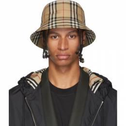 Burberry Beige Vintage Check Bucket Hat 192376M14000202GB