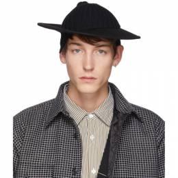 Bless Black Wool Hatcap Hat 192852M14001802GB