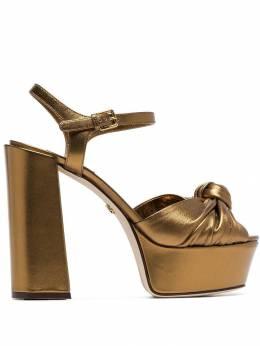 Dolce&Gabbana босоножки с эффектом металлик CR0695A1016