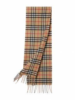 Burberry Kids кашемировый шарф в клетку Vintage Check 8015162
